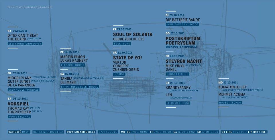 Solaris Flyer Oktober 2011 Krankypanky & Len @ Solaris